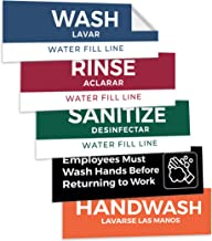 3 compartment sink labels
