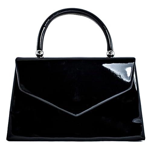 fi9® BNWT Retro Tote Patent Leather Bridal Wedding Evening Handbag Party  Purse Clutch Shoulder Hand e91bf29ce7041