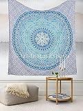 Mandala Tapisserie Wandbehang, indische Baumwolle Tagesdecke Doppelzimmer, Bo...