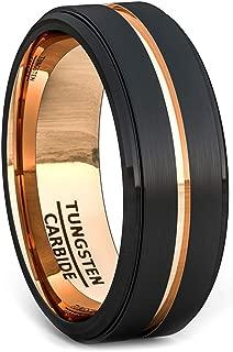 Best black tungsten ring rose gold wedding band Reviews