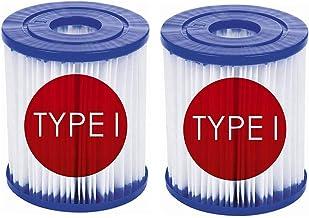 ZHAOYU Cartuchos de filtro tamaño 1 para Bestway 58093, tipo I de repuesto para bombas de piscina Bestway, accesorios para limpieza de piscinas, repuesto para spa (2)
