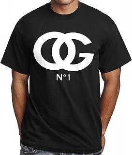 Men's OG Original Gangster # 1 T Shirt Urban Wear Hip Hop Gear Trill Rap Dealer (7X - 7XL Big) Black White