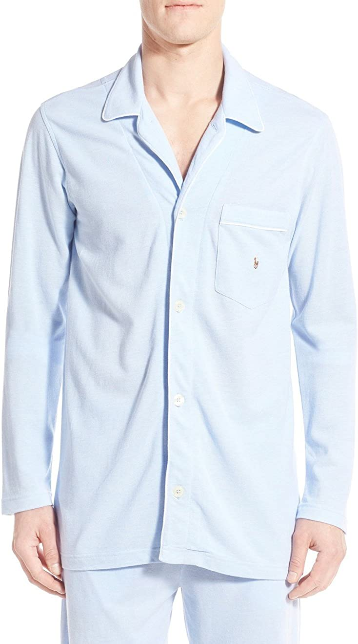 Ralph Lauren Polo Oxford Piqué Knit Cotton Pajama Top