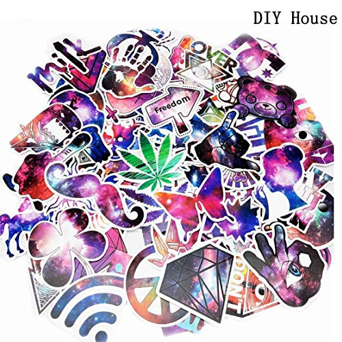 81 PCS Graffiti Decals Vinyls Stickers For Laptops Helmet Skateboard Bike Luggage Computer Phone Motorcycle Bicycle Cars Waterproof Sunlight-Proof DIY Ideals Assorted Cool Stickers