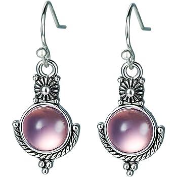 Rainbow Topaz Hollow Waterdrop Moonlight Stone Women Drop Dangle Earrings