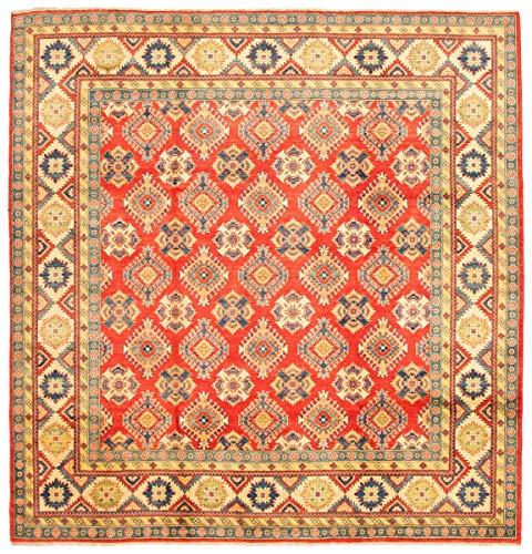 eCarpet Gallery Large Area Rug for Living Room, Bedroom | Hand-Knotted Wool Rug | Finest Gazni Bordered Red Rug 10
