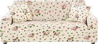 Boshen Stretch Seat Chair Covers Couch Slipcover Sofa Loveseat Cover 9 Colors/4 for 1 2 3 4 Four People Sofa + 1 Pillowcase (4 Seater, Floral)
