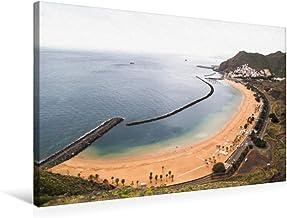 CALVENDO Premium Textil-Leinwand 75 x 50 cm Quer-Format Playa de Las Teresitas, Santa Cruz, Leinwanddruck von Michael Stuetzle