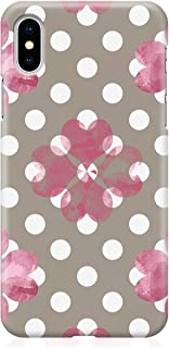 Loud Universe Case for iPhone XS Wrap around Edges Valentines Day Couples Love Pink Floral Heart Pattern Sleek Design Heav...