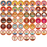 Coffee Pod Variety Packs Flavored Sampler, Assorted, Compatible with 2.0 K-Cup Brewers, Variety Pack, 52 Count (Pack of 1)