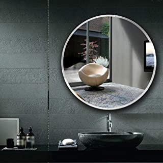 Round Mirror Wall-Mounted Vanity Mirror Makeup Mirror Simple Nordic Creative Home Decoration 5CD1 (Size : 70cm)