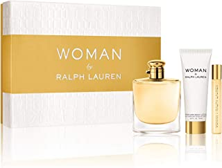 Woman By Ralph Lauren Gift Set (Perfume 3.4oz 100ml + Body Lotion 2.5 oz 75ml + Roller Perfume .35oz 10ml)