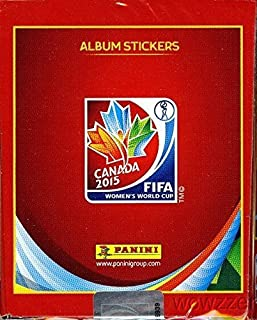 2015 Panini FIFA Women's World Cup Soccer Canada MASSIVE 50 Pack Factory Sealed Sticker Box with 350 Brand New MINT World Cup Stickers!