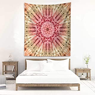 DIY Tapestry Tie Dye Decor Gradient Circle Batik Pattern with Spectral Pleats and Distressed Spots Image Tapestry for Home Decor 51
