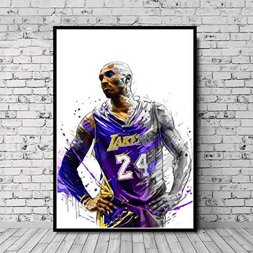 zaishuiyifang Jugador De Baloncesto MVP Superstar Arte Sin Marco Lienzo Pintura Cartel Hogar Pintura Decorativa Mural Sin Marco Affiche A1314(50X70Cm)