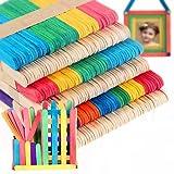 100 x Bois Bâtons de Popsicle Glace Lolly Cream Bar Multicolore + Bois Couleur