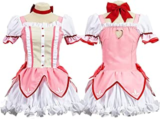 Mange 魔法少女まどか☆マギカ 鹿目まどか コスプレ 衣装 仮装 cosplay (女性L)