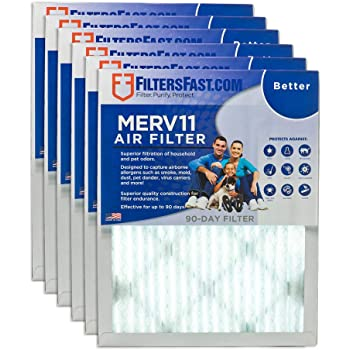 Pack of 6 US Home Filter SC60-16X25X1-6 MERV 11 Pleated Air Filter 16 x 25 x 1 16 x 25 x 1 Midwest Supply Inc