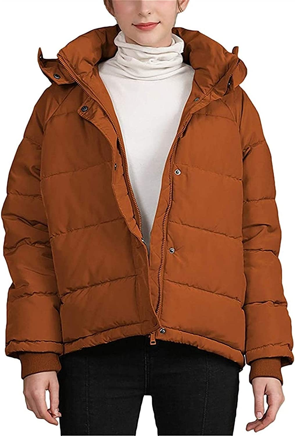 HSY SHOP Women Winter Quilted Jacket, Women Warm Oversized Coat Parka Quilted Jacket with Hood