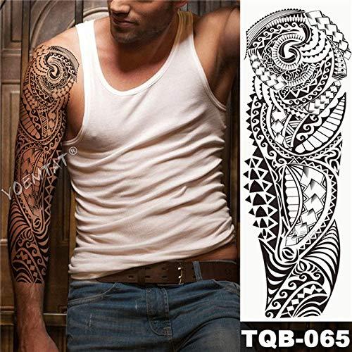 Brazo grande Tatuaje Manga Dibujo Tigre León Papel impermeable Salvaje Animal feroz Persona Pájaro entero Tótem Tatuaje Tatuaje de belleza y salud