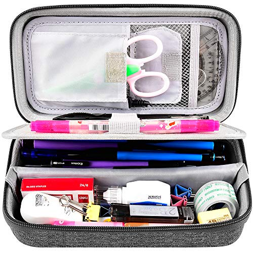 Hard Pencil Case Organizer Big Colored Pencils Box, Pencil Marker Sationery Holder Pouch Bag for School, Office and Drawing Supplies (Box Only)