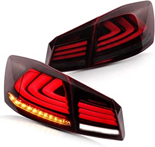YUANZHENG LED Tail Lights Compatible for Honda Accord 2013 2014 2015 (LED Tail lights assembly with Sequential Turn Signals and DRL Bars)