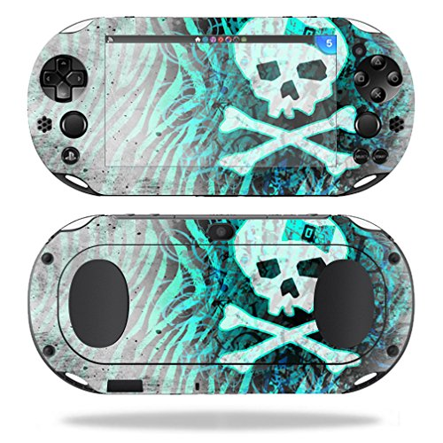 MightySkins Skin Compatible with Sony PS Vita (Wi-Fi 2nd Gen) wrap Cover Sticker Skins Zebra Skull