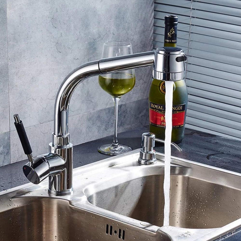 Hiwenr Neues Design Herausziehen Wasserhahn Chrom Silber Swivel Küchenspüle Mischbatterie Küchenarmatur Waschtischarmatur