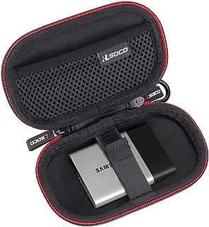 外付けssd 収納ケース RLSOCO samsung 外付けssd t5 500gb 、SanDisk 外付SSD 250GB 250GB 500GB 2TB 1TB エクストリーム ポータブル 対応用ケースJabraEliteActive65t/JabraElite65tTrue、Powerbeats3/2イヤホン、USBメモリ、SDカードなどの小物にも対応