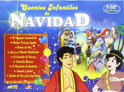 Cuentos infantiles de navidad Maletín (6 DVD)