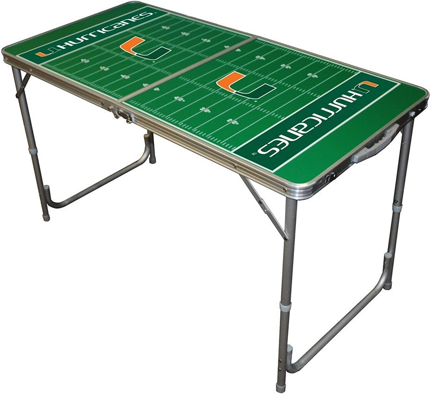 Wild Sports TTABLEMIFL NCAA Miami Hurricanes 2x4 Tailgate Table