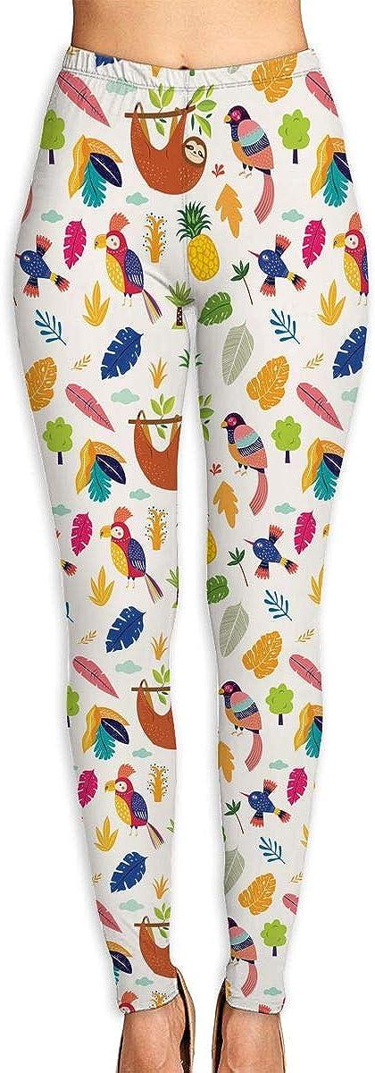 Cute Sloth Parrots Al sold out. Super sale Gym Pants Yoga Sweatpants Leggings