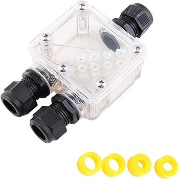 Caja de Conexiones, EgoEra® Electricas IP68 Estanca Impermeable Caja de Conexiones / Cajas de empalmes Exterior, 3 Wege 5 Klemmen Transparent Kabel-Teiler Box: Amazon.es: Bricolaje y herramientas