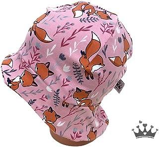 Handmade Herbst Beanie// Mütze Eulen auf rosa  53-55cm116-122-128 Neu aktuell