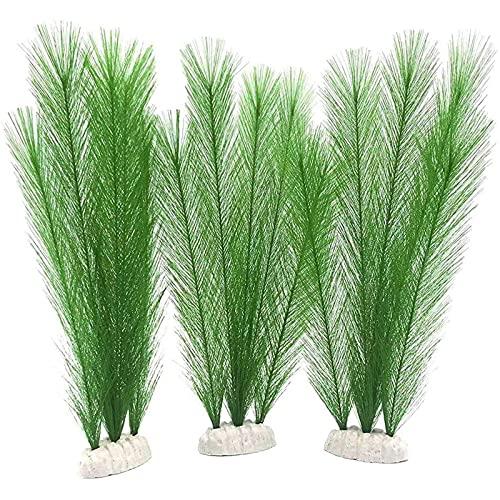 3Pcs 30cm Plantas Artificiales de Acuario, Plantas de Plástico para Acuario, Plantas Acuáticas, Adornos de Paisaje de Acuario, para Decoración de Plantas de Acuario