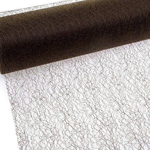 Deko und Band Spiderweb – mesch – Chemin de Table – Chemin de Table Marron – 30 cm – Rouleau 25 m – 67 021 de r 300
