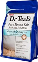 Dr Teal's Epsom Salt Soaking Solution, Detoxify & Energize, Ginger & Clay, 3lbs