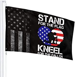 Stand For The Flag, Kneel For The Fallen-1 Flags 3x5 Fit For Lawn Patio Yard Garden Terrace Balcony Durable Dorm Room Home...
