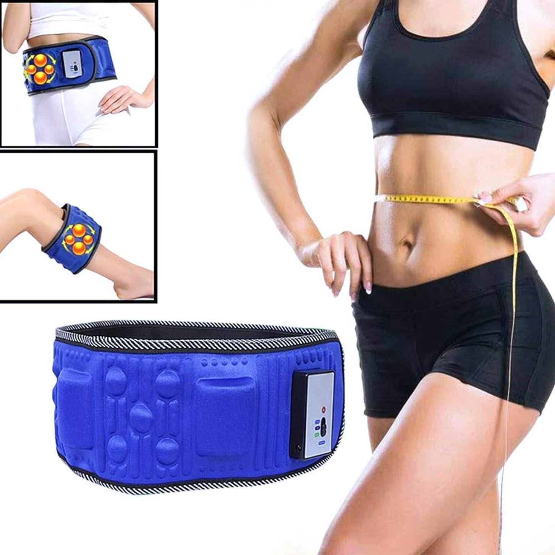 スリンク保守的応援する電気振動痩身ベルトマッサージャー - 減量ベルト振動燃焼脂肪を失う重量シェイクウエストトレーナー - マッサージウエストエクササイザー