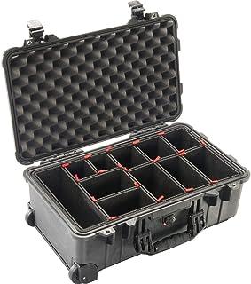 Peli Case 1510 - Maleta con ruedas y sistema de compartimentos Trekpak, color negro, impermeable, IP67