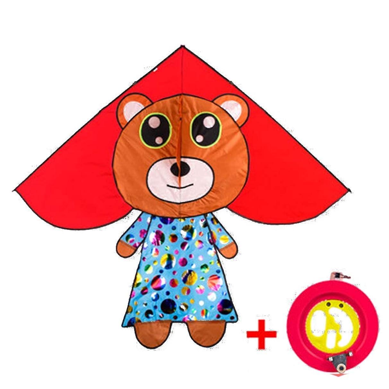 Kite,Flying Spring Toy Kite Children Fly Kites, Beginners Cartoon Triangle Kite (with Reel) Kite line Wheel Puller Multi-Style Optional (Color : E)