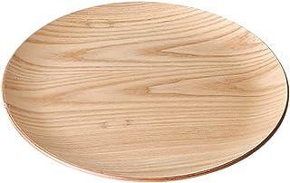 木製 25cm 丸トレー ウィローウッド