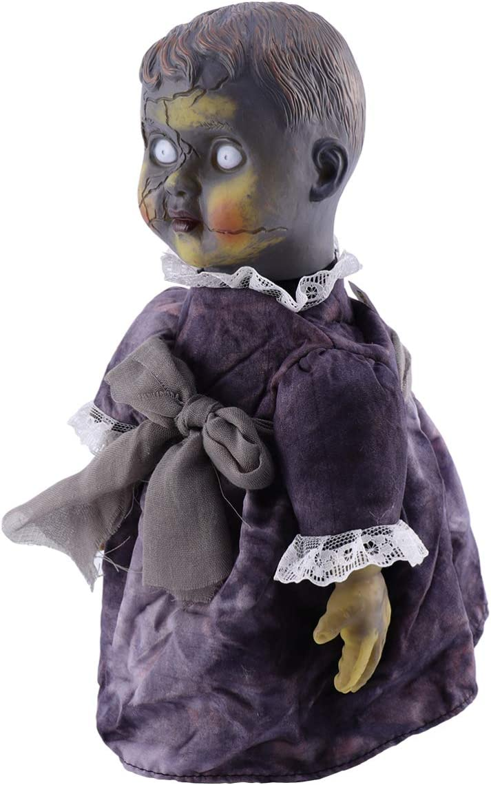 NUOBESTY Haunted House Decoration Ultra-Cheap Deals Prop Control sold out Doll Light Voice