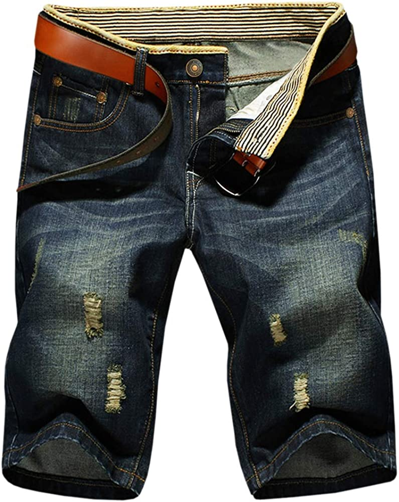 Fort Worth Mall LATUD Men's Casual Denim No Belt Shorts Our shop OFFers the best service