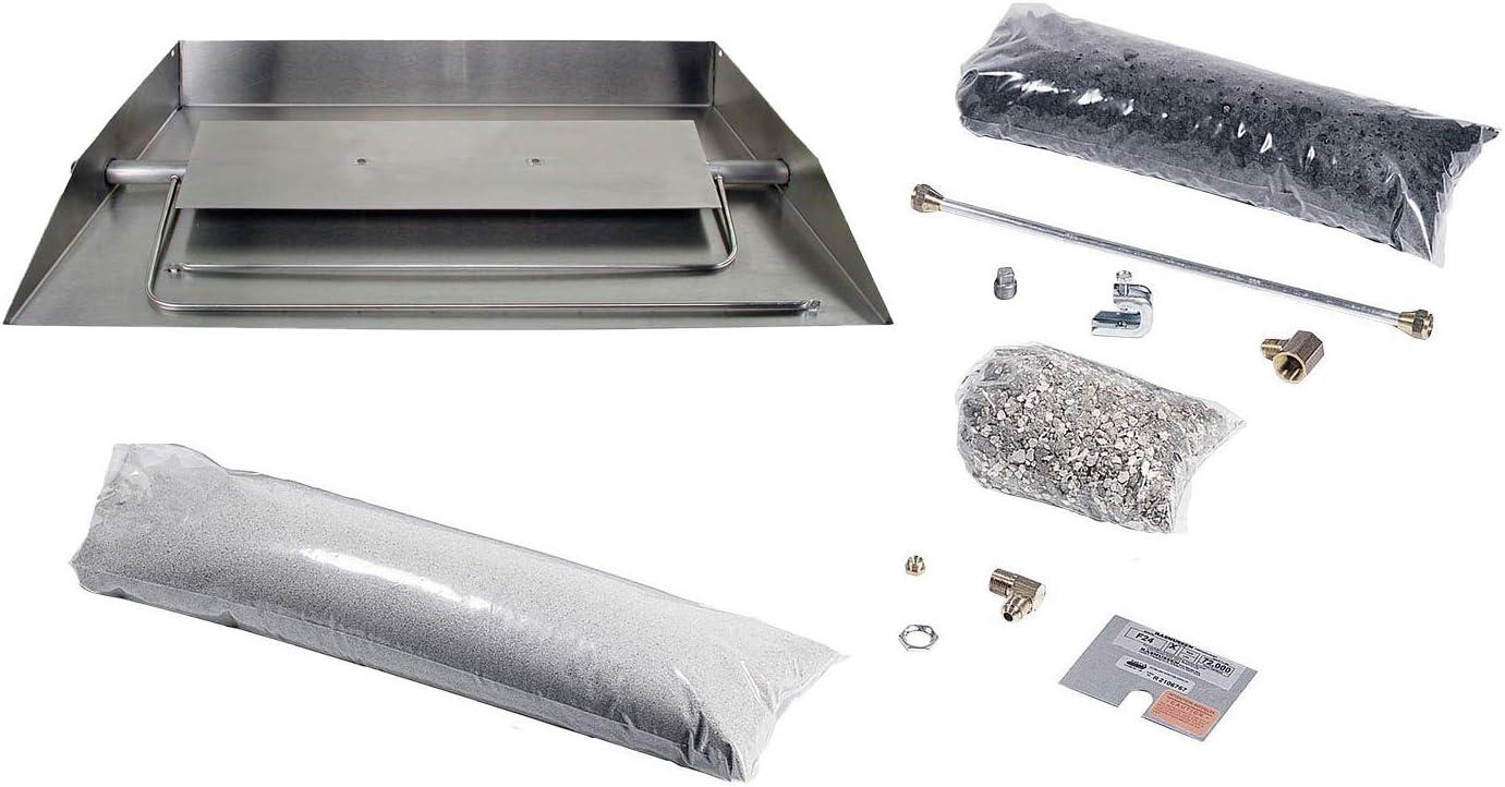 Rasmussen Stainless Max 60% supreme OFF Steel Custom Embers Vented Bur Pan Fireplace