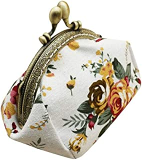 New In Haalife◕‿Cute Floral Buckle Coin Purses Vintage Pouch Kiss-Lock Change Purse Wallets