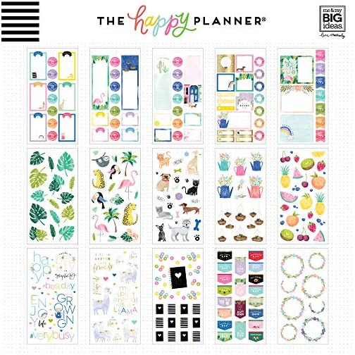 me & my BIG ideas Sticker Value Pack - The Happy Planner Scrapbooking Supplies - Happy Illustrations Theme - Multi-Color… |