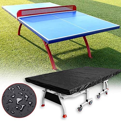 Funda para mesa de ping pong, impermeable, transpirable, de poliéster, para mesa de ping pong, plegable, para interior y exterior, a prueba de polvo, resistente al sol