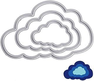 U-horizon Matrices de découpe 3 PCS Nuages Clouds, Cutting Dies Pochoir à découper en métal pour Scrapbooking, Album Phot...
