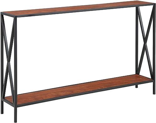 Convenience Concepts Tucson Console Table, Black / Cherry